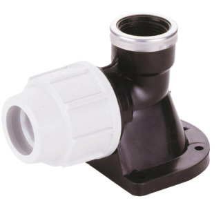 PLASSON WALL PLATE ELBOW 20MM-0